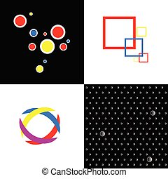 four abstract vector illustration symbol
