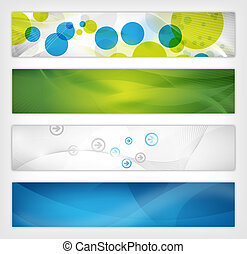 abstract website header - four abstract website header or...