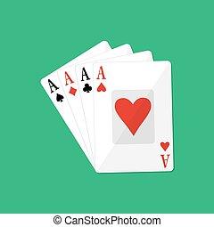Four aces. Gambling entertainment.