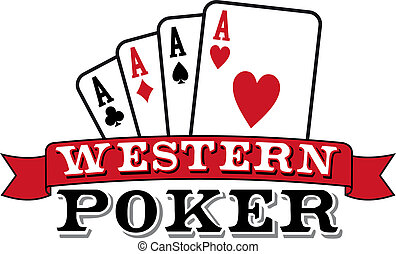 Four aces. Casino Poker Cards with red ribbon on white background. Vector available