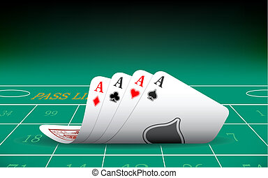 Four Aces Playing Card