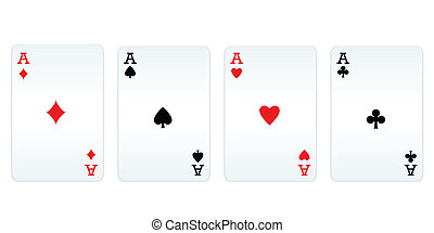 Four aces of different card suits