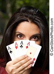 four aces woman