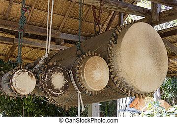 Four ancient drum