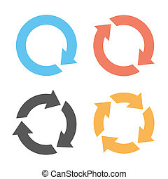Four colorful arrow reload icons