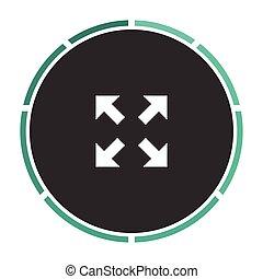 four arrows computer symbol