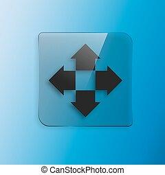 Four arrows flat icon