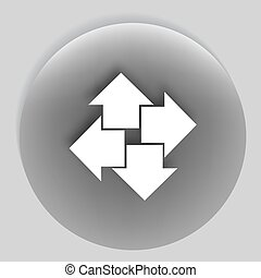 Four arrows flat vector icon