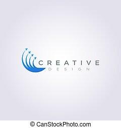 Four arrows point up Vector Illustration Design Clipart Symbol Logo Template