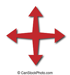 Four arrows pointing in different directions