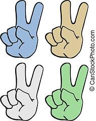 Four art hands - Creative design of four art hands