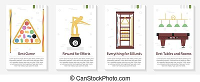 Four banner for billiard