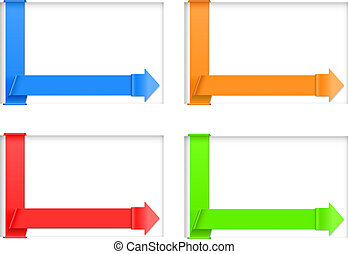 four banners - vector four various hue banners, eps10 file,...