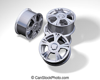 four big rims without any brand