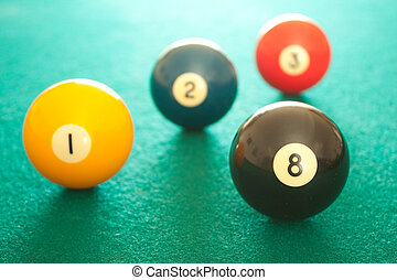 Four billiard balls