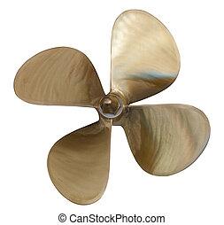 four-bladed propeller over white - four-bladed propeller. ...