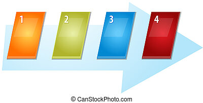 Four Blank business diagram slanted sequence illustration -...