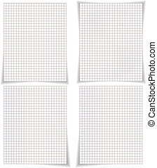 Four blank pages of the notebook