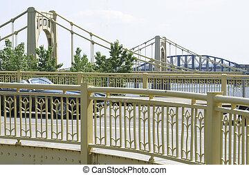 Four Bridges - Four bridges of the Monongahelea River,...