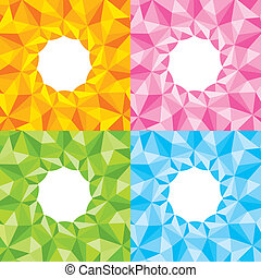 Four bright abstract background