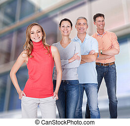 Four business associates in casual clothes