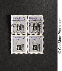 Four Canadian postage stamps of 1982