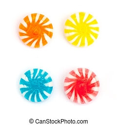 candies - four candies isolated on white