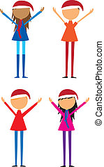 four childrens vector