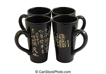 four chinese cups