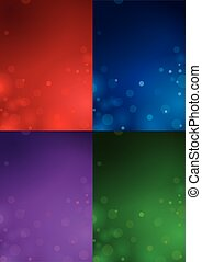 Four Christmas Backgrounds