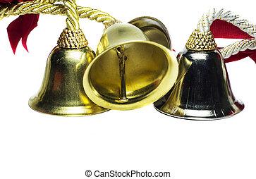 Four christmas shinny bells - Four christmas bells with...