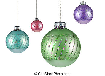 four christmas tree ornaments