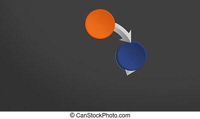 Four Circle arrow flow chart. powerpoint presentation template.(included alpha)