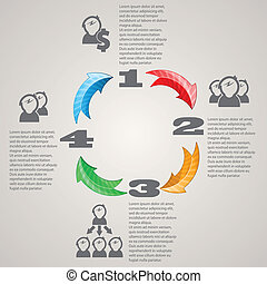 Four circle arrows