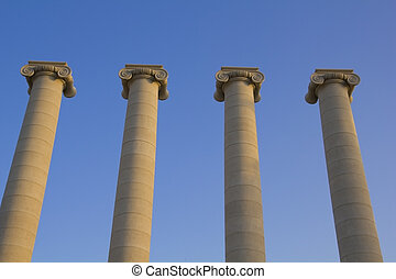 Four classical columns