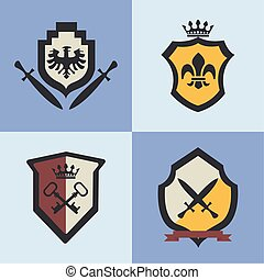 four coats of arms