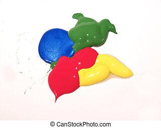 paint blob - four color paint blob