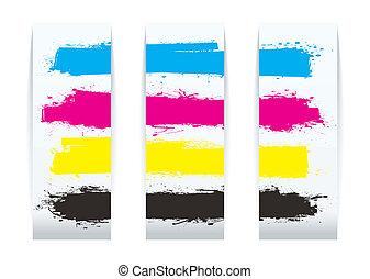 Four color paper