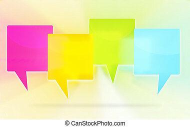 four colored blank icons design
