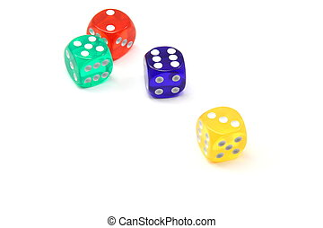 Four Colored Dice