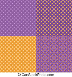 Four colorful seamless abstract backgrounds.