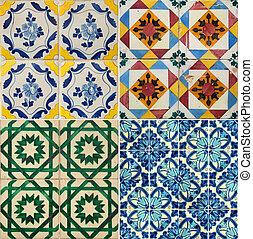 Four colors tiles