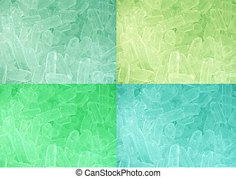 Four colors tone ice background