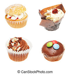 Four cup cakes