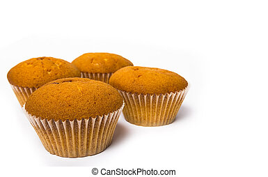 cupcakes on a white background