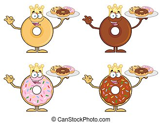 Four Cute Donuts 10. Collection