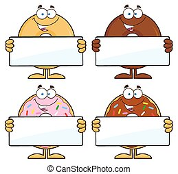 Four Cute Donuts 13. Collection - Four Cute Donuts Cartoon...