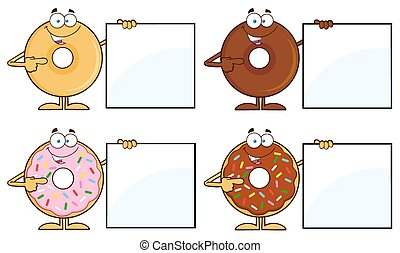 Four Cute Donuts 15. Collection