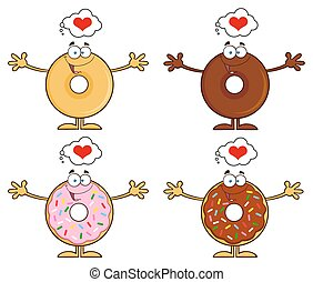 Four Cute Donuts 17. Collection