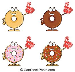 Four Cute Donuts 7. Collection